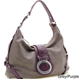 Dasein Front Flap Hobo Bag