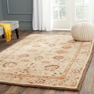 Safavieh Handmade Anatolia Ivory/ Beige Hand-spun Wool Rug