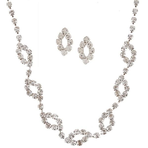 Alexa Starr Oval Link Rhinestone Jewelry Set