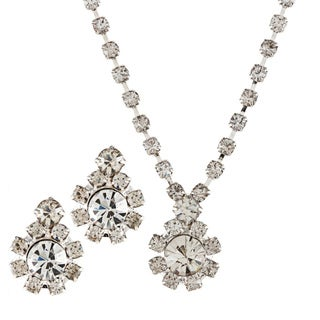 Alexa Starr Rhinestone Flower Jewelry Set