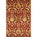 Handtufted Ferring Persimmon Wool Rug (7'10 x 11')
