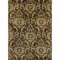 Handtufted Ferring Dark Olive Wool Rug (3'6 x 5'6)