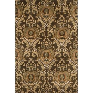 Hand-tufted Ferring Dark Olive Wool Rug (5' x 7'6)