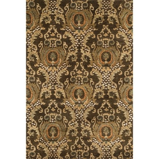 Hand-tufted Ferring Dark Olive Wool Rug (7'10 x 11')