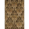 Handtufted Ferring Dark Olive Wool Rug (7'10 x 11')