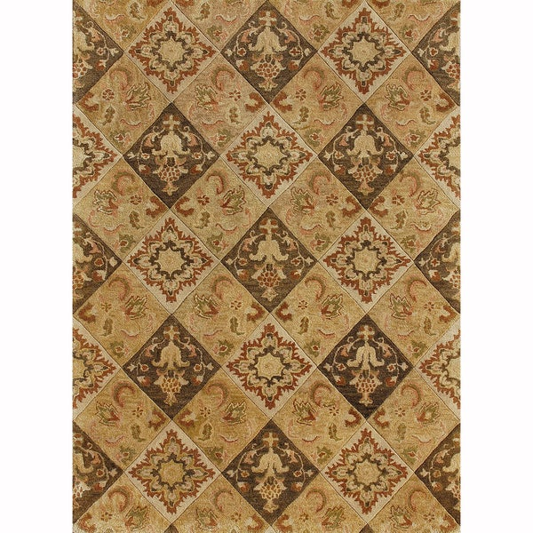 Hand-tufted Ferring Multi Wool Rug (5' x 7'6)