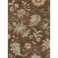 Handtufted Ferring Brown Wool Rug (7&#39;10 x 11&#39;)