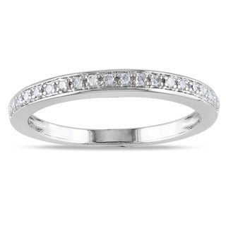 Miadora 14k White Gold 1/10ct TDW Diamond Ring (G-H, I1-I2)