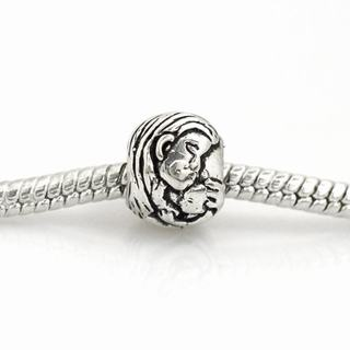 De Buman Sterling Silver Morther and Baby Charm Bead