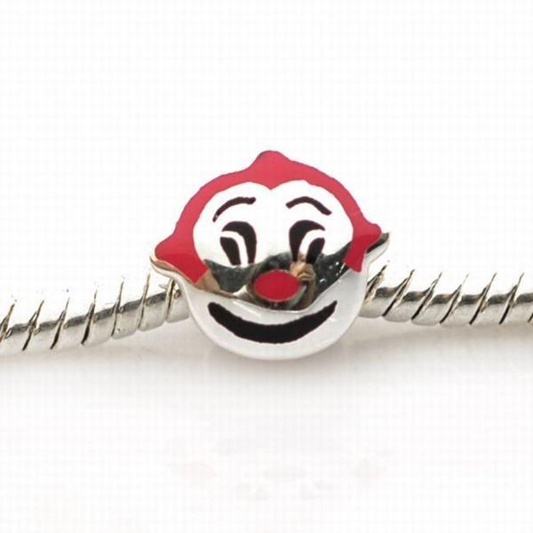 De Buman Sterling Silver Enamel Clown Charm Bead