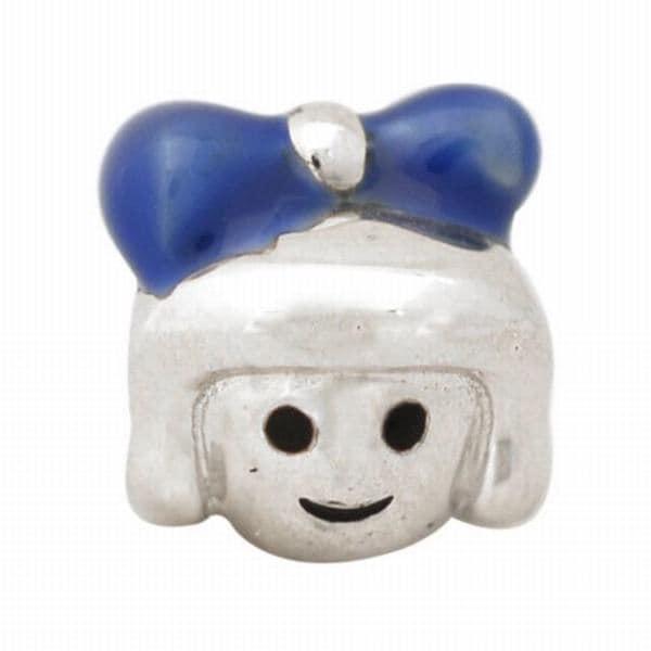 De Buman Sterling Silver Enamel Little Girl Charm Bead