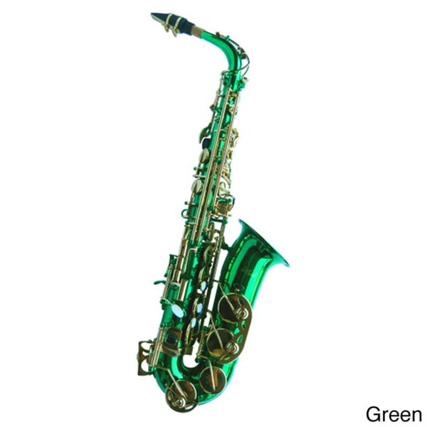 Euro Designed E-Flat Alto Color Saxophone and Case