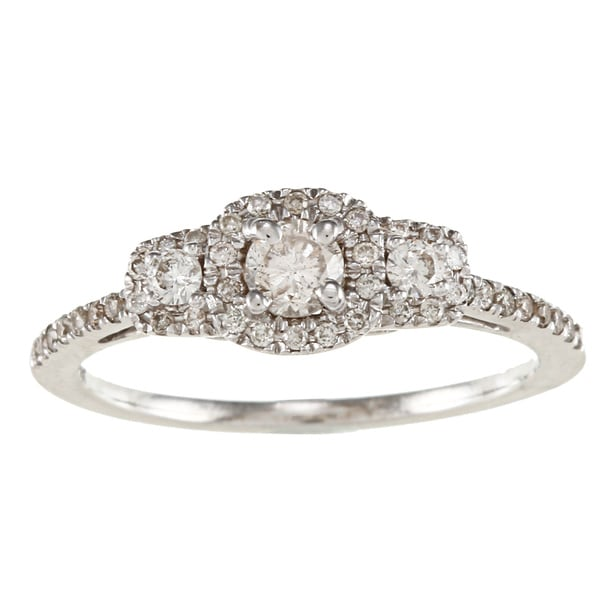 14k White Gold 1/2ct TDW White Diamond Engagement Ring (IJ, I1-I2)