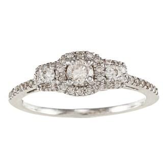 Victoria Kay 14k White Gold 1/2ct TDW White Diamond Engagement Ring (IJ, I1-I2)