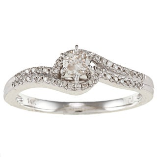 14k White Gold 1/3ct TDW White Diamond Ring (IJ, I1-I2)