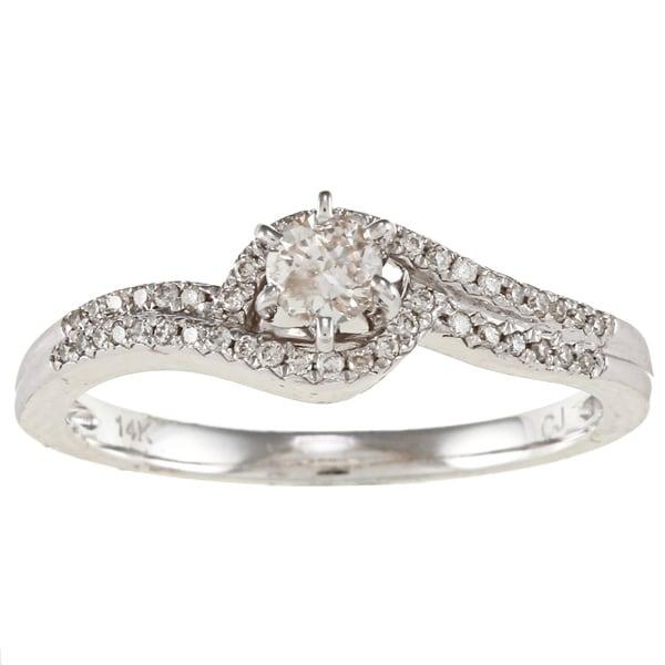 Victoria Kay 14k White Gold 1/3ct TDW White Diamond Ring (IJ, I1-I2)
