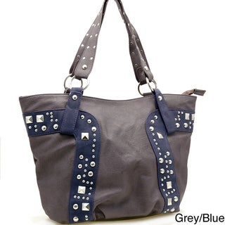 Dasein Fashion Studs Decorated Tote Bag