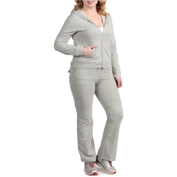Tabeez Women's Plus Size Hoody Set
