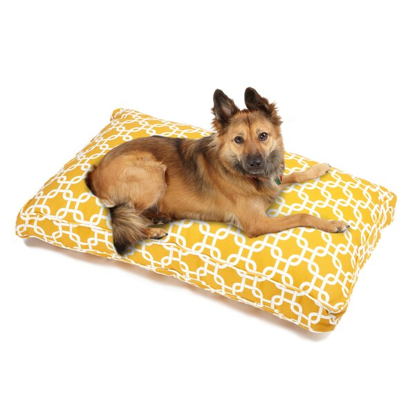 Sweet Dreams Yellow Indoor/ Outdoor Corded Pet Bed