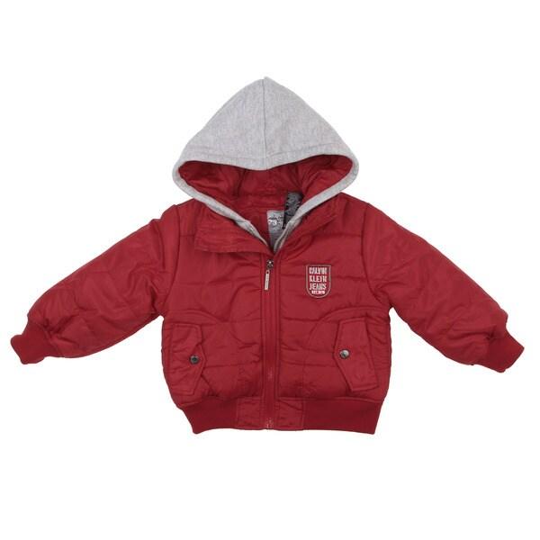 Calvin Klein Toddler Boy's Red Puffer Jacket FINAL SALE