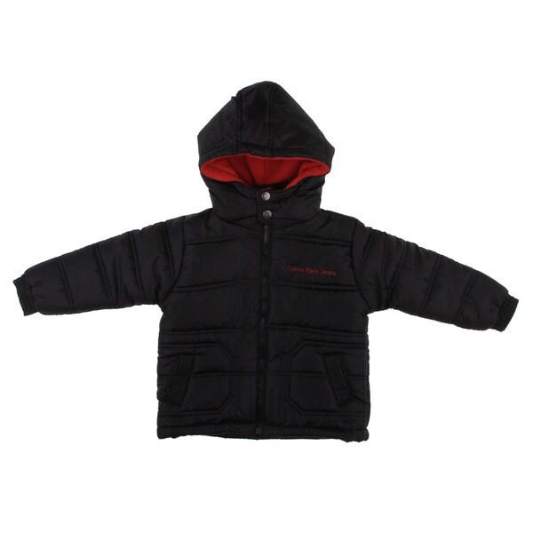 Calvin Klein Boy's Black/ Red Puffer Jacket