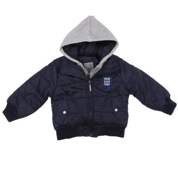 Calvin Klein Toddler Boy's Navy Hooded Jacket