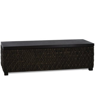 Christopher Knight Home Rinaldi Dark Brown Rattan Storage Ottoman