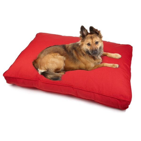 Sweet Dreams Red Indoor/ Outdoor Corded Sunbrella Fabric Pet Bed