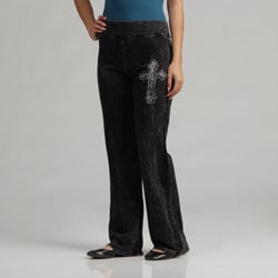 Tabeez Distressed Comfort Rhinestone Pants