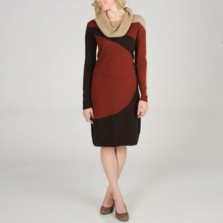 Lennie for Nina Leonard Women's Colorblock Sweater Knit Dress