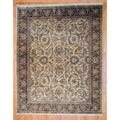 Indo Hand-knotted Ivory/ Brown Mahal Wool Rug (8' x 10')