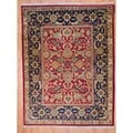 Indo Hand-knotted Red/ Green Oushak Wool Rug (8' x 10')