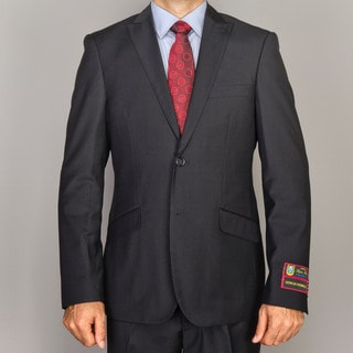 Men's Solid Black Slim-Fit Suit