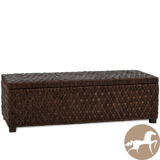Christopher Knight Home Rinaldi Dark Brown All Rattan Storage Ottoman
