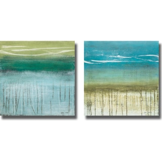Heather McAlpine 'Shoreline Memories I and II' 2-piece Canvas Art Set