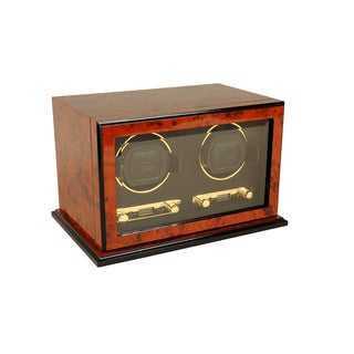 WOLF Burlwood Double Watch Winder
