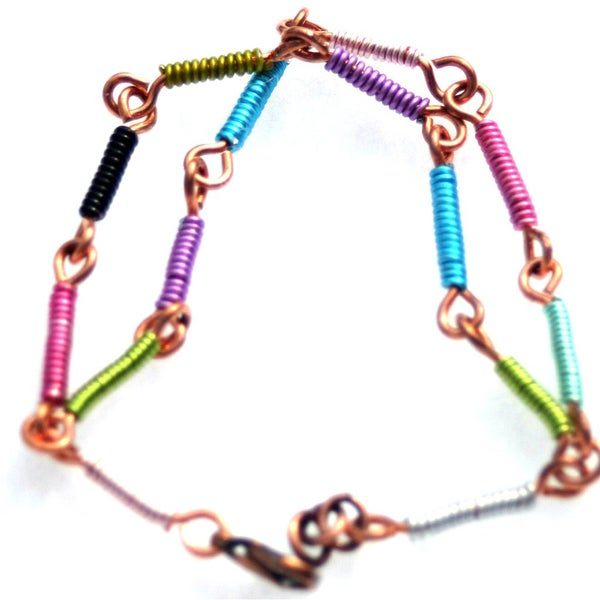 My Three Metals Colorful Copper Bracelet