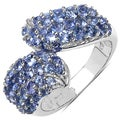 Malaika Sterling Silver 2ct TGW Tanzanite Ring