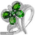 Malaika Sterling Silver Chrome Diopside or Multi-gemstone Ring