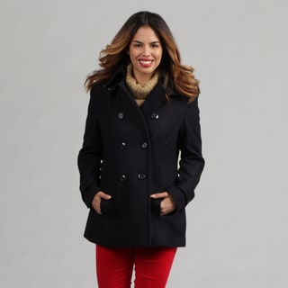 Double Breast Trench Coat w/ Hood