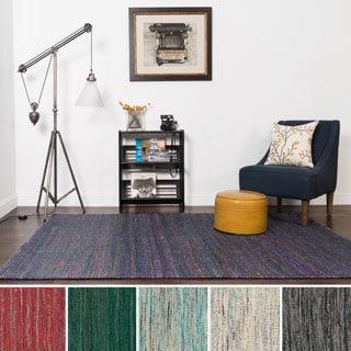 Hand-woven Olmstead Silk Rug (7'9 x 9'9)