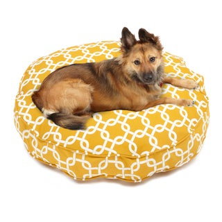 Sweet Dreams Yellow Indoor/ Outdoor Round Corded Pet Bed