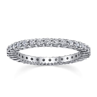14k White Gold 4/5 to 1ct TDW Diamond Eternity Wedding Band (H-I, I1-I2)