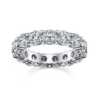 14k White Gold 3 3/4 to 4 1/4ct TDW Diamond Eternity Wedding Band (H-I, SI1-SI2)