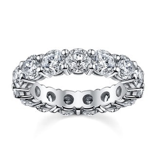 14k White Gold 3 3/4 to 4 1/4ct TDW Diamond Eternity Wedding Band