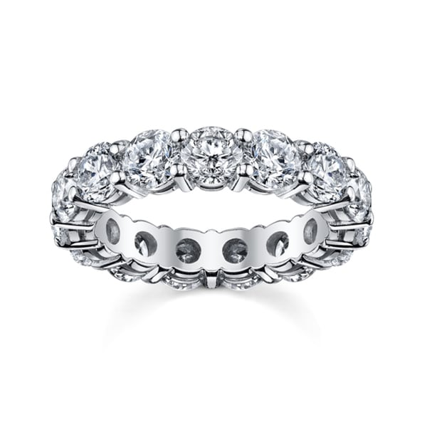 14k White Gold 4ct TDW Diamond Eternity Wedding Band (H-I, SI1-SI2)