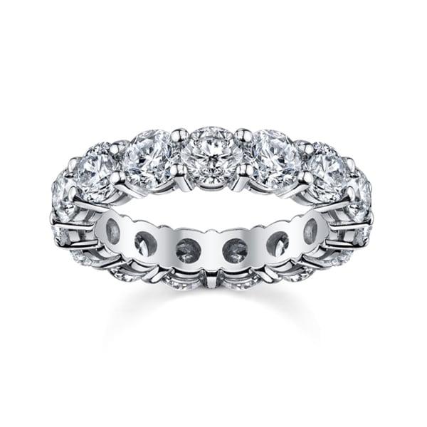 14k White Gold 4ct TDW Diamond Eternity Wedding Band (H-I, SI1-SI2)