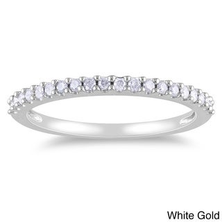 Miadora 10k Gold 1/5ct TDW Diamond Anniversary Ring (H-I, I2-I3)