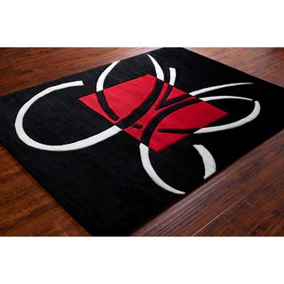 Mita Abstract Black Rug