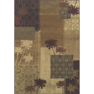 Indoor Beige/ Green Transitional Area Rug (1'10 x 3'3)